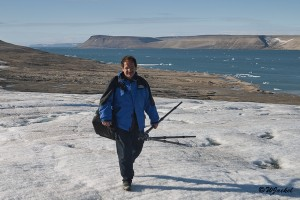hiking in the Palanderbukta, Svalbard
