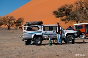 taking a break in Sossusvlei, Namibia